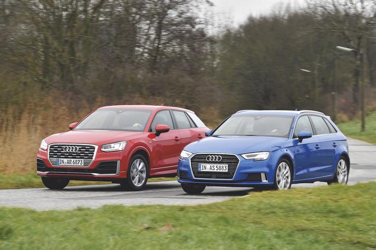 Audi Q2 против Audi A3 Sportback