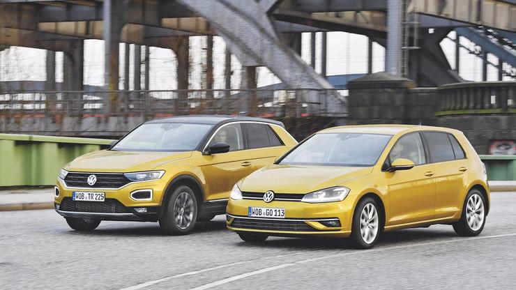 Volkswagen T-Roc против Golf