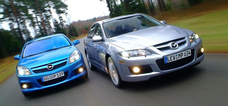 Opel Vectra C против Mazda 6 - похожая мощь, другой характер