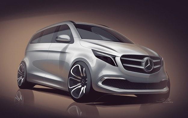 Mercedes покажет в Женеве электрический минивэн