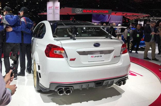 Subaru разработал эксклюзивный седан STI S209