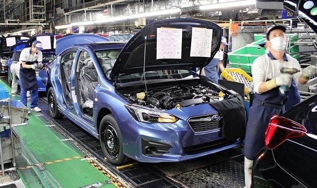Японский завод Subaru остановил производство